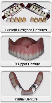 custom design dentures